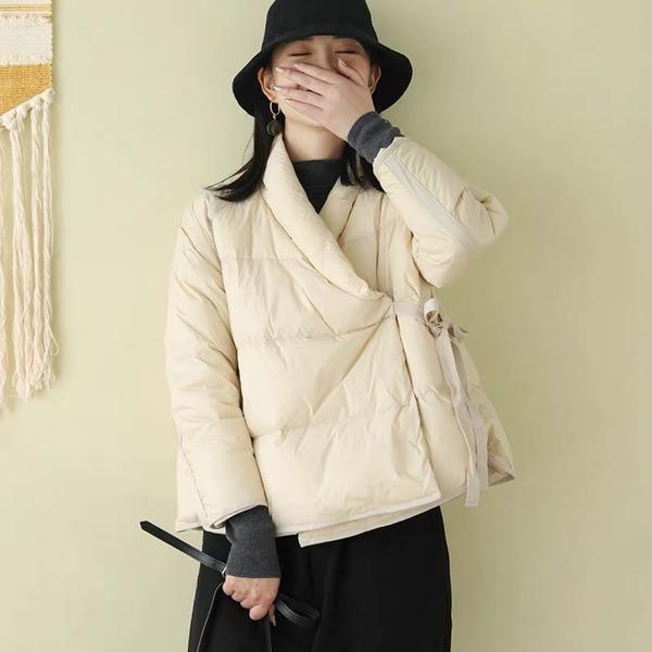 2020 Winter New Vintage Women Clothes Casual Down Coats