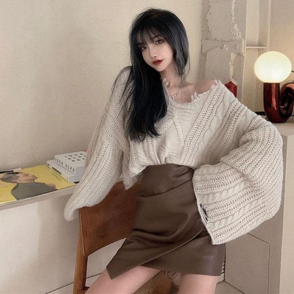 Fashion Women Full Sleeve Loose 2020 Winter Small Fresh Casual Style Sweater