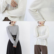 Load image into Gallery viewer, chunky white winter sweater oversized o neck boutique baggy sweaters