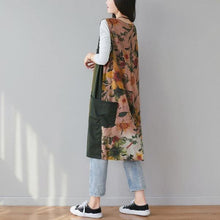 Load image into Gallery viewer, Autumn Fashion Patchwork Floral Print V-neck  Women Vest Coats