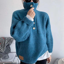Load image into Gallery viewer, Style Turtleneck Collar Long Sleeve Pullover Elegant Solid Color Top