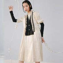 Load image into Gallery viewer, Patchwork Casual Style 2020 Winter Hit Color Pleated Casual Style Dress