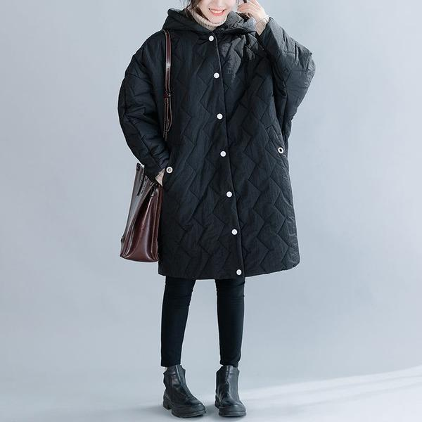 Loose Casual Fashion All-match Hooded Thick Jacket 2020 Plus Size Women Long Coat