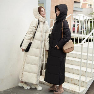 Thick down parka women with hood down jacket winterr coat
