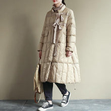 Load image into Gallery viewer, Women Casual Down Coats Stand Long Sleeve Warm Pockets Women Clothes Vintage Down Coats