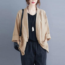 Load image into Gallery viewer, 2020 Autumn Vintage Solid Color Loose Comfortable Female Outerwer Coats
