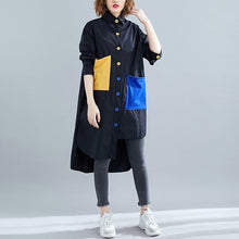 Load image into Gallery viewer, omychic cotton spring autumn vintage korean plus size Casual loose shirt women blouse 2020 clothes ladies tops streetwear