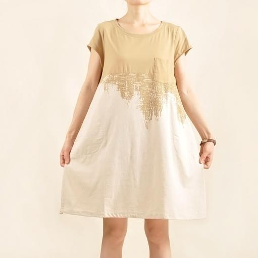 desert under the sky sundress cotton shift dress