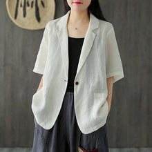 Load image into Gallery viewer, 2020 Summer New Cotton Linen Comfortable All-match Women Coat