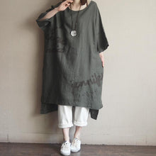 Load image into Gallery viewer, Casual Round Neck Cotton Embroidery Dress