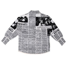 Load image into Gallery viewer, Letter Print Pattern Single Breasted Jacket