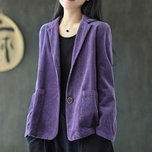 Load image into Gallery viewer, Autumn New Cotton Corduroy All-match Coats 2020 Loose Comfortable Long Sleeve Women Tops Coat