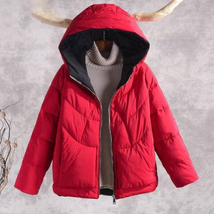 New Fashion Hooded Casual Cotton Parka Female Outerwear Coats