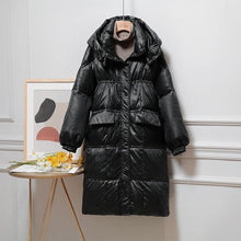 Load image into Gallery viewer, Oversized Down Jacket Women Winter White Duck Down Coat Winter Hooded Warm Parkas Overcoats