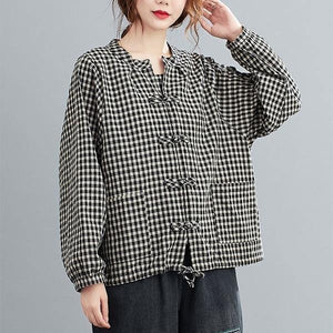 Oversized Women Autumn Cotton Linen Jackets New Arrival 2020 Loose Casual Outerwear Coats