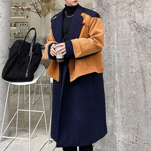 Loose Splicing Fashion Women Winter The New Personality Street Trendy