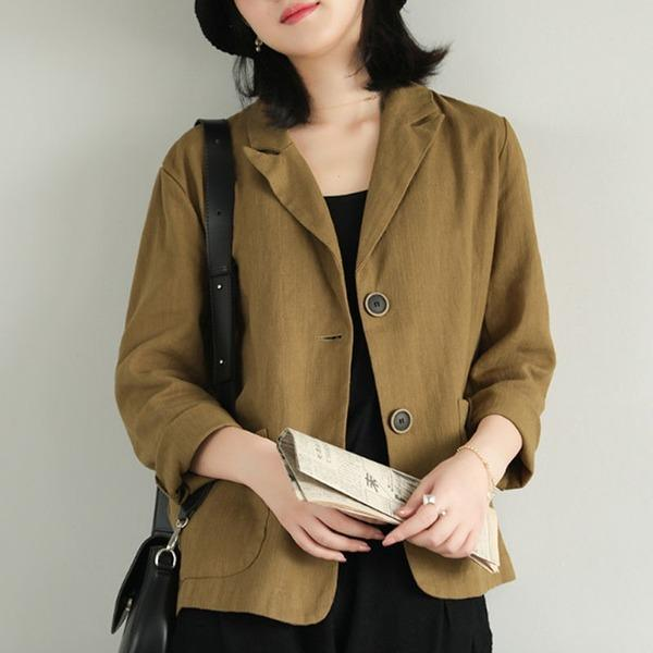 Single Breasted Long Sleeve 4 Color Fashion Coat 2020 New  All-match Women Tops Coat