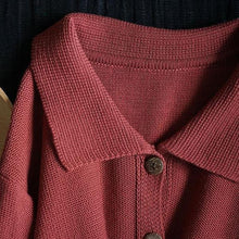 Load image into Gallery viewer, All-match Knitted Turn-down Collar Pockets Cardigan
