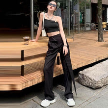 Load image into Gallery viewer, Women Elastic Waist 2020 Winter Full Length Pants Casual Style Elegant Minority Style