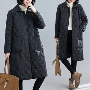 Plus Size Jacket Women Autumn Winter Cotton Clothing Loose  Cardigan Overcoat