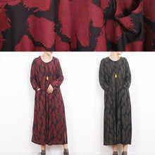 Laden Sie das Bild in den Galerie-Viewer, fashion army green caftans oversize O neck Jacquard traveling clothing 2018 side open kaftans