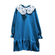 Load image into Gallery viewer, Winter Fashion Elegant Loose Patchwork Pleated Dress Loose Casual Pullover Dress