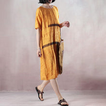 Load image into Gallery viewer, Casual Loose Short Sleeve Round Neck Dress