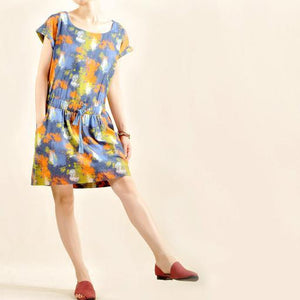 floral cotton sundress linen summer shift dresses