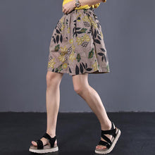 Load image into Gallery viewer, new female loose vintage printing wild shorts linen pants