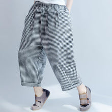 Load image into Gallery viewer, new 2017 gray casual plaid pants oversize summer harem pants