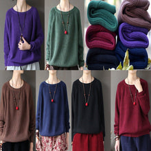 Load image into Gallery viewer, new fall brown top quality knitwear pullover loose casual sweater tops