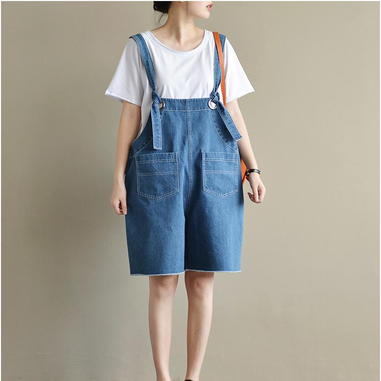 original blue casual jeans plus size stylish jumpsuit shorts