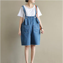 Load image into Gallery viewer, original blue casual jeans plus size stylish jumpsuit shorts
