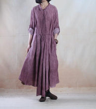 Load image into Gallery viewer, purple long linen maxi dress spring linen cardigan