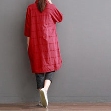 Load image into Gallery viewer, red linen dress for summer red dress casual sundress