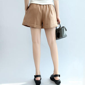 summer new casual linen shorts loose stylish hot pants