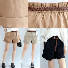 Load image into Gallery viewer, summer new casual linen shorts loose stylish hot pants