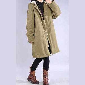 thick army green winter parkas plus size clothing snow jackets hooded zippered coats