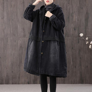 thick denim black Parkas for women plus size clothing winter coats hooded warm