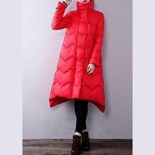 Load image into Gallery viewer, thick red women Loose fitting lapel warm winter coat YZ-2018111441