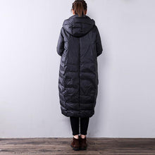 Load image into Gallery viewer, black women parka Loose fitting hooded top YZ-2018111409