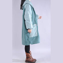 Load image into Gallery viewer, top quality blue casual outfit casual down jacket hooded pockets winter coats
