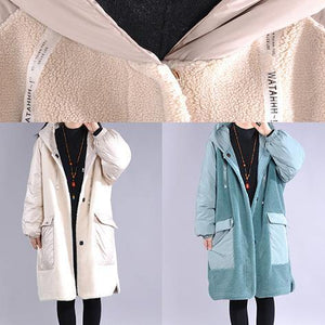 top quality blue casual outfit casual down jacket hooded pockets winter coats