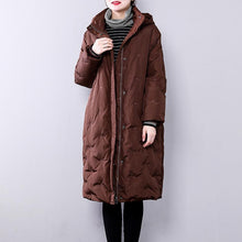 Load image into Gallery viewer, chocolate warm winter coat plus size hoodedYZ-2018111413