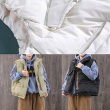 Load image into Gallery viewer, top quality light green Parkas for women Loose fitting overcoat stand collar zippered