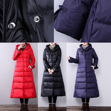 Load image into Gallery viewer, purple women parkas oversize hooded Chinese StyleYZ-2018111407