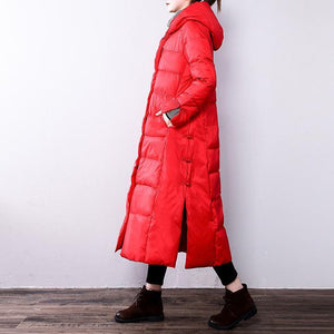 red Parka for women plus size hooded  YZ-2018111406