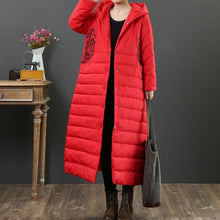 Load image into Gallery viewer, top quality red warm coats plus size clothing snow jackets embroidery hooded winter coats