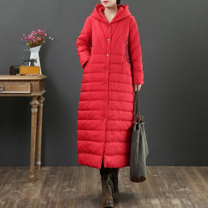 top quality red warm coats plus size clothing snow jackets embroidery hooded winter coats