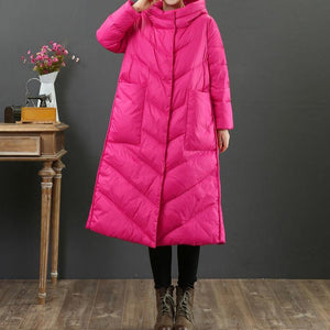 top quality rose warm winter coat Loose fitting winter snow jackets hooded Warm Jackets